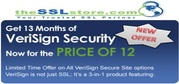 Get 13 Months of VeriSign Secure Site Pro Security @Price of 12 Months